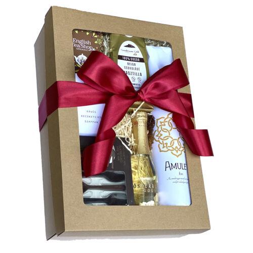 Arany pezsgős ajándékcsomag