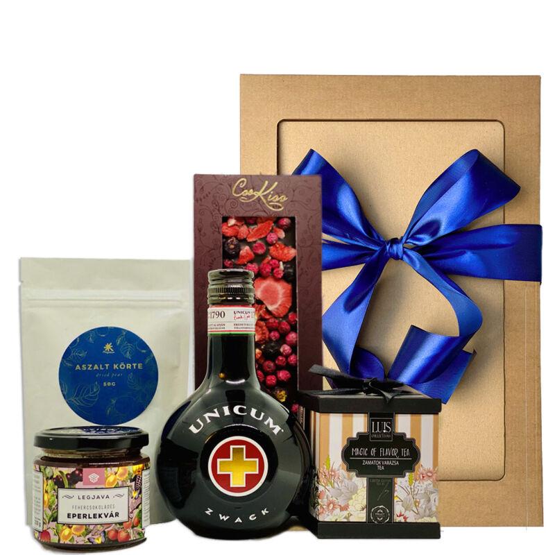 Unicumos gourmet ajándékcsomag