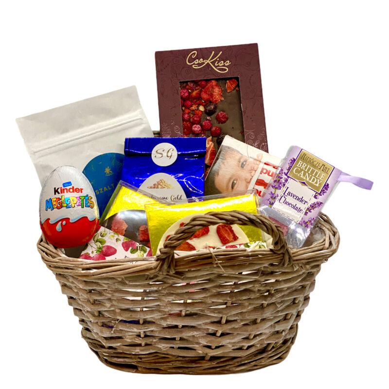 Húsvéti csokoládés ajándékkosár küldés