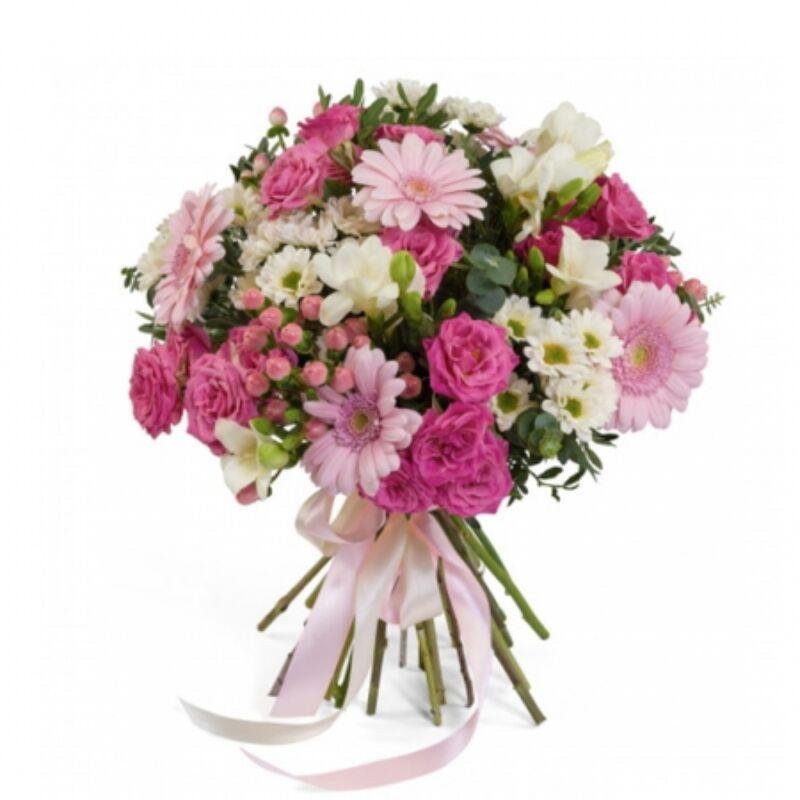 Rózsaszín álom virágcsokor
