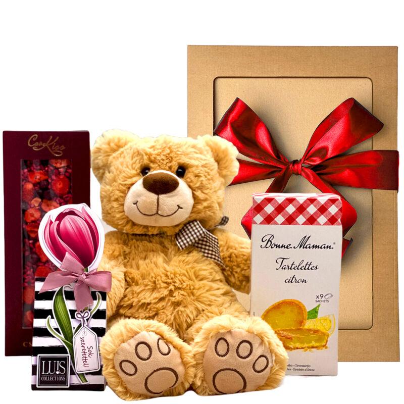 Maci és csoki ajándékcsomag küldés