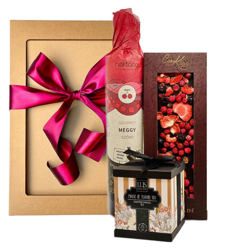 Alkoholmentes gourmet ajándék csomag