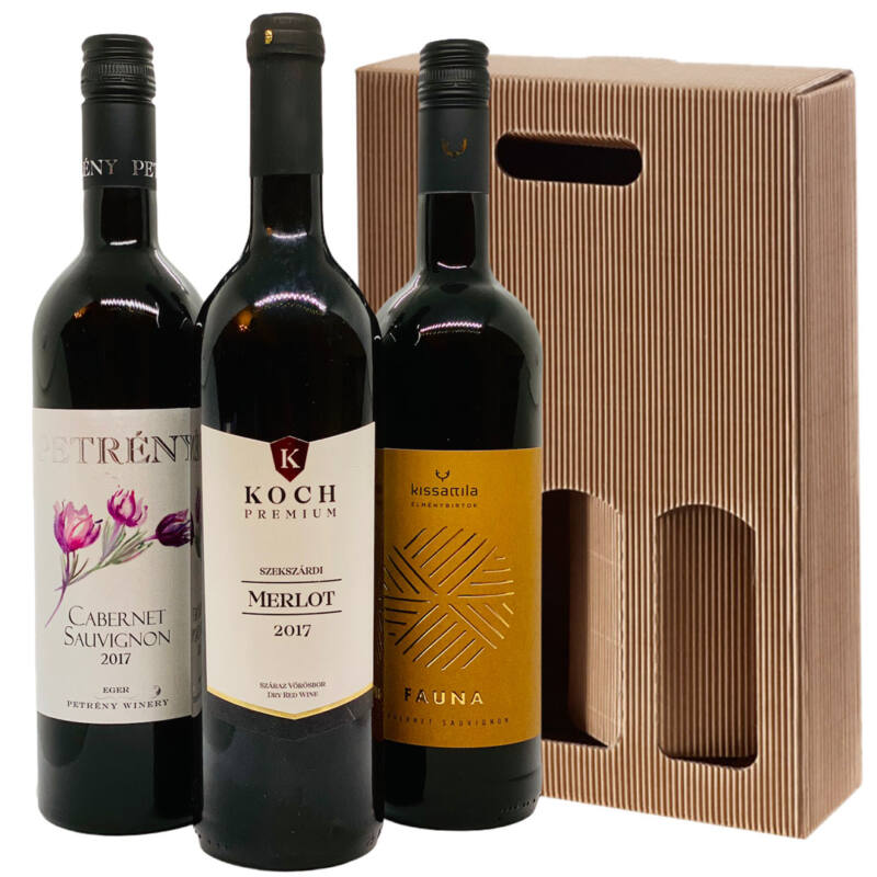 Vörös boros ajándékcsomag