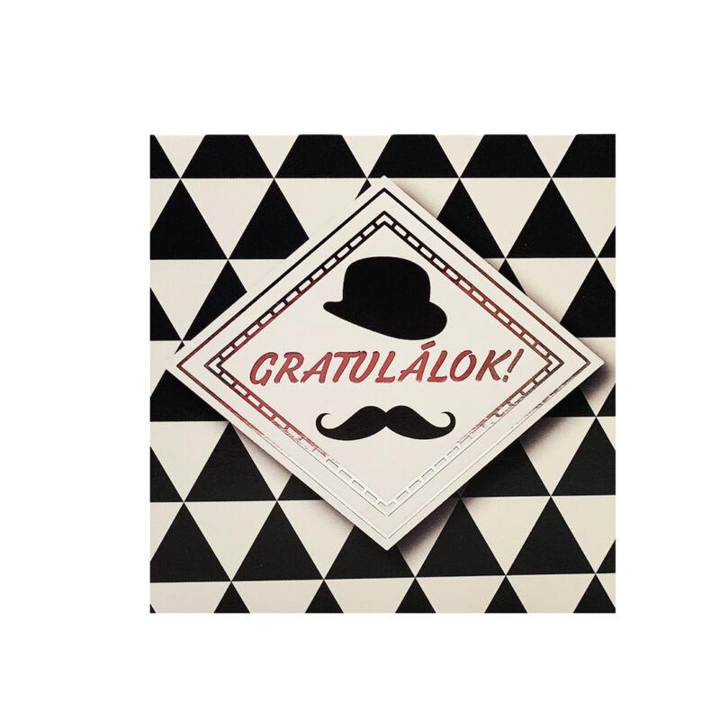Gratulálok képeslap egyedi szöveggel