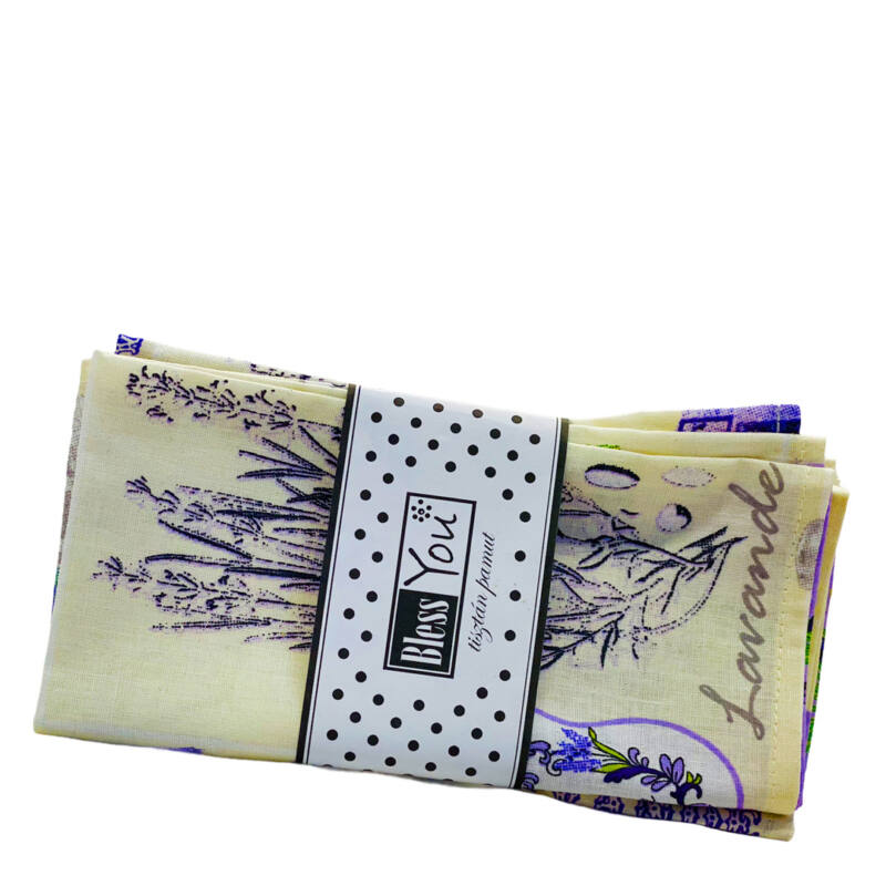 Levendula szalvéta ajándékcsomag kiegészitő