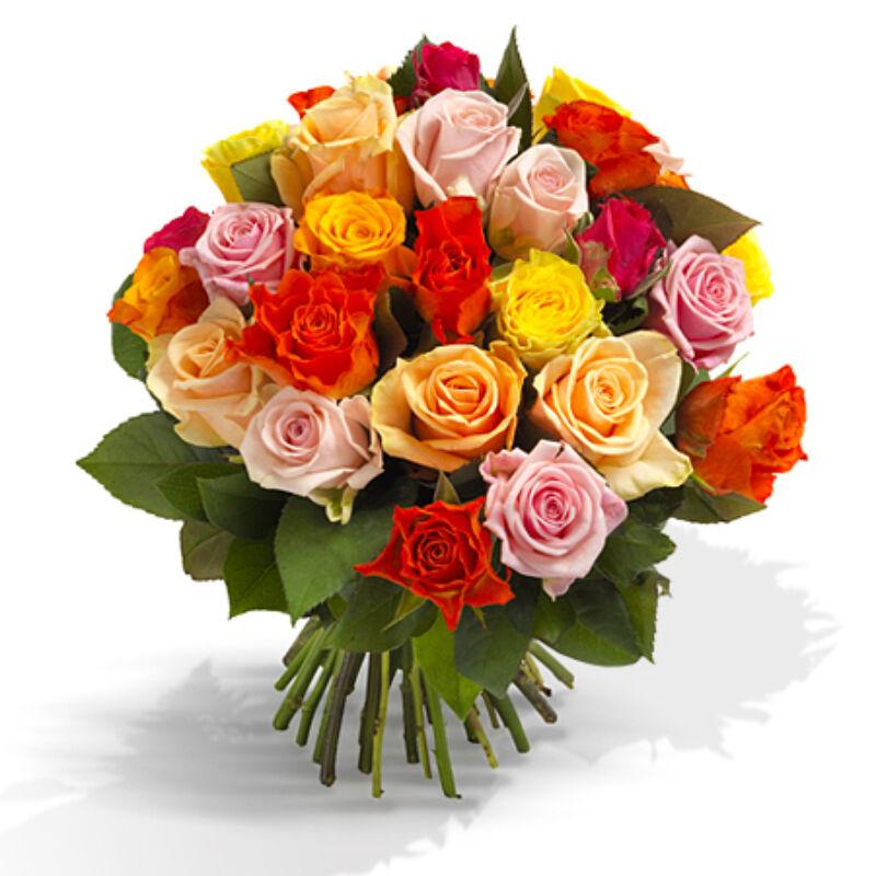Színes rózsacsokor küldés