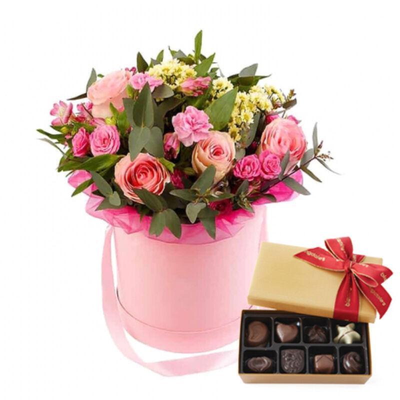 Virágdoboz és csoki