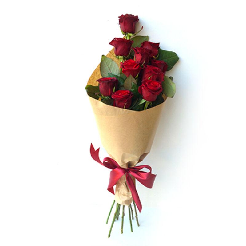 Vörös-rózsacsokor-küldés